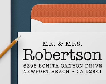 Return Address Stamp 355 - Self Inking Stamp, Custom Address Stamp, Custom Stamp, Personalized Address Stamp, Wedding and Housewarming Gift
