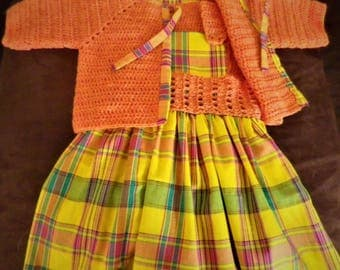 madras and little girl creole-inspired jacket dress