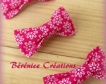 Hair clip bow fuchsia