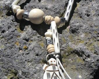 Bracelet bone and wood turtle