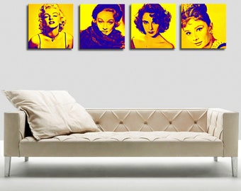 Portrait 1 canvas Hollywood 55 x 55
