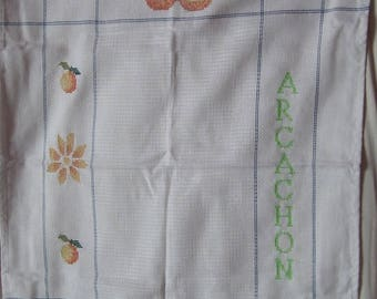 "Blue Tea towel ""ARCACHON"""