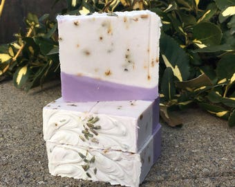 Lavender Luxury Bar Soap - Handmade  - All Natural