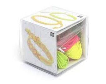 Macrame bracelet, Neon Pop Kit