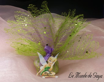 Kit with pouch theme Tinkerbell sitting for baptism favors