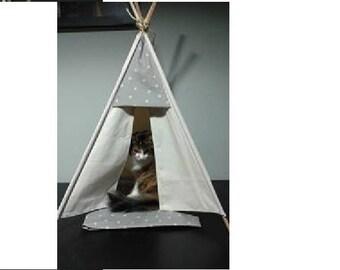 CAT and dog collar modern teepee
