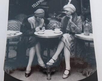 Notebook with flap loving / PHOTO white and black women's Café PARIS / 76 pages / 10 cm x 7.5 cm