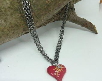 Love heart chain bracelet
