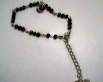 Semi precious black, grey bracelet