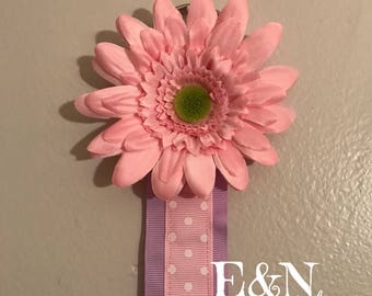 Soft pink/purple bow holder - Hair bow holder - bow holder - hair bow organizer - bow organizer - wall bow holder - hair clip holder