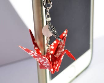 Accessory - Keychain - portable red Origami jewelry