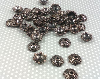 ☆ set of 20 cups for copper ethnic style, 9 x 9 x 4 mm beads
