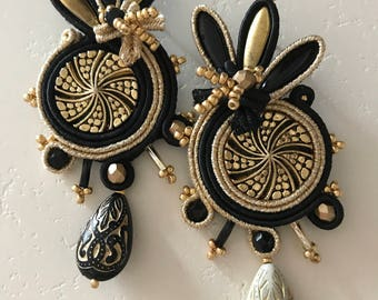 Blackgold Earrings