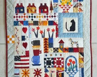 decorative Panel, plaid, multicolor patchwork