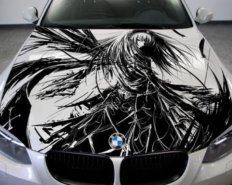 Anime Hood Decal Etsy - Create car decalsanime decal etsy