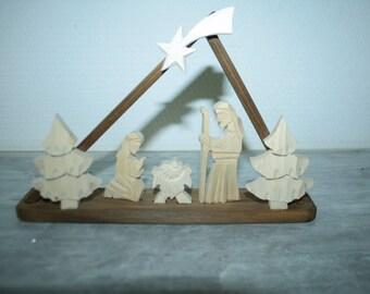 Christmas wooden crib