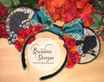 Lace Mouse Ears: Scottish Princess & Mother-Bear