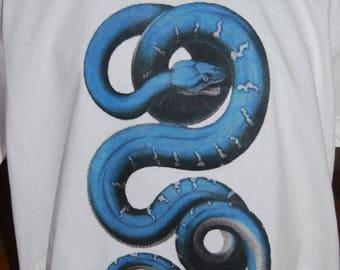 t-shirt men White Snake