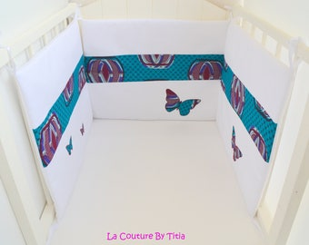 White hand made bed size and wax @lacouturebytitia turquoise Butterfly