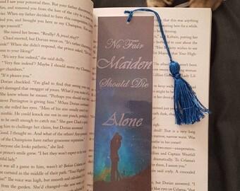 No fair Maiden should die alone. Sarah J. Mass TOG bookmark with tassle