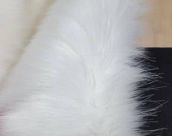 50cm of Snow white 7 cm long pile Faux Fur High Quality
