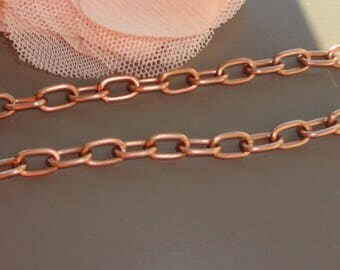 copper chain 8 1 m x 5 mm large mesh 1 m