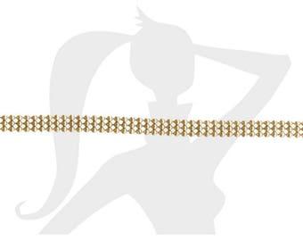chaîne boule 3 rangs - Différents coloris - 20 cm chaîne articulée 3 rangs en alliage doré 5mm