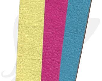 25mm strap - different colors - 20 cm flat 25mm faux grained leather strap - CFIL25
