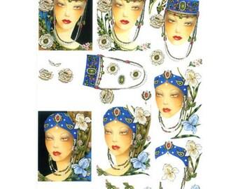 Womens blue PAR029 tiaras