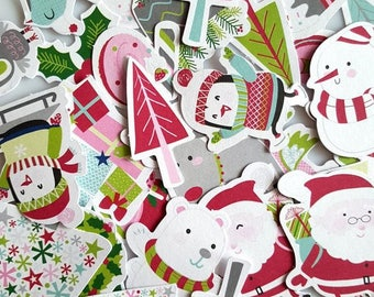 Embellishments - Die cuts characters Christmas - multicolored - 56 pcs - Toga - new