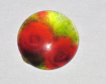 """""""Flowers"""" in size 15mm glass cabochon"""