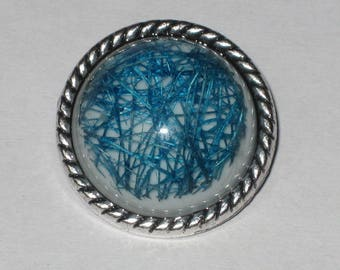 """Button snap resin """"blue threads"""" size S"""