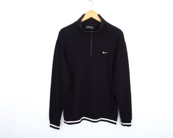 Nike Small Logo Embroidery Half Zipper Pullover Jumper Sweatshirt