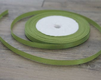 20 m of 6mm green colored satin ribbon