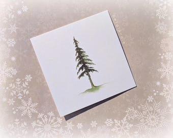 One Pine Tree (Gold Shimmer Card)