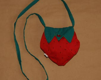 My first purse, a strawberry