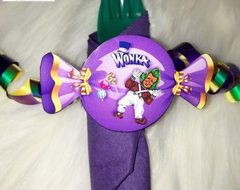 Additional Oompa Loompa Napkin Rolls for the Willy Wonka Inspired Dinnerware Package
