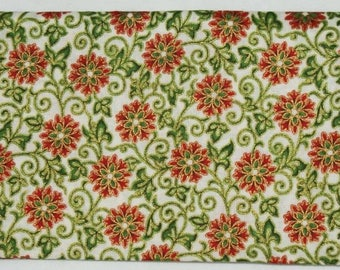 Embroidery - with Christmas patterns - ivory background.