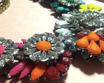 Multicoloed Statement Bib Necklace