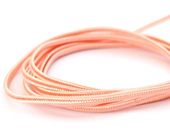 Coral pink 3mm made in France soutache cord