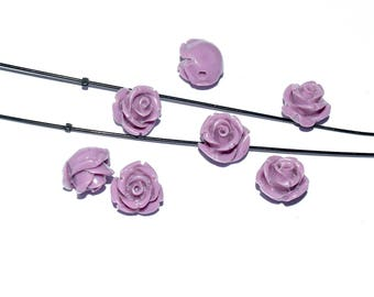 Natural Pearl wire - cinnabar (12mm) - lilac, pink patent