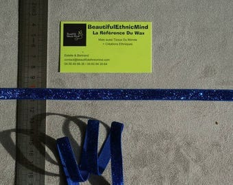 dark blue sparkly sequined Ribbon 10 mm