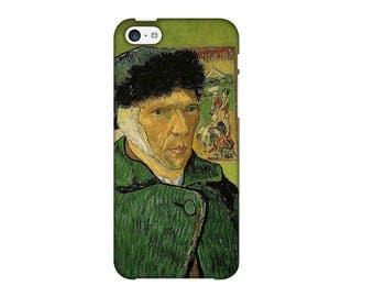 Case for iPhone 4-5-6-7, self-portrait by Vincent Van Gogh bandaged ear