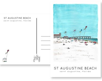 St. Augustine Beach Postcard