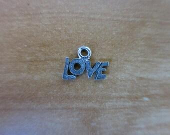 Love silver charm