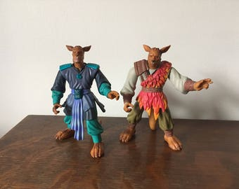 Warriors of Virtue action figures, Chi and Yun. 1996. 90s cartoons, 1990s toys