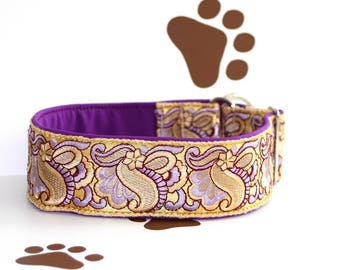 Dog collar Jacquard ribbon with the unique colourful ornaments in the most elegant design