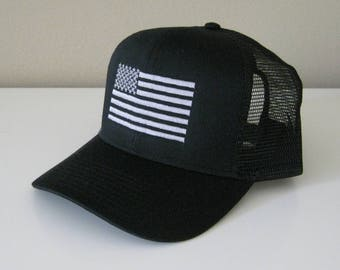 American Flag Embroidered Mesh Cap Dad cap flag cap flag hat