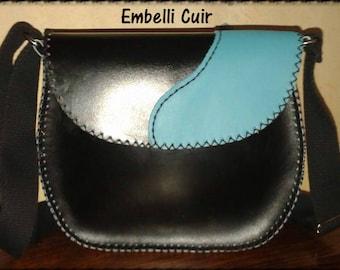 Small genuine calf leather bag