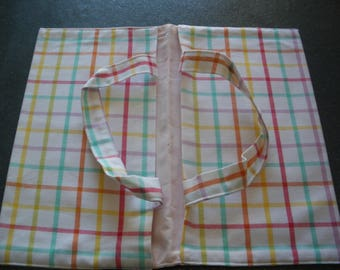 bag pie white striped fabric